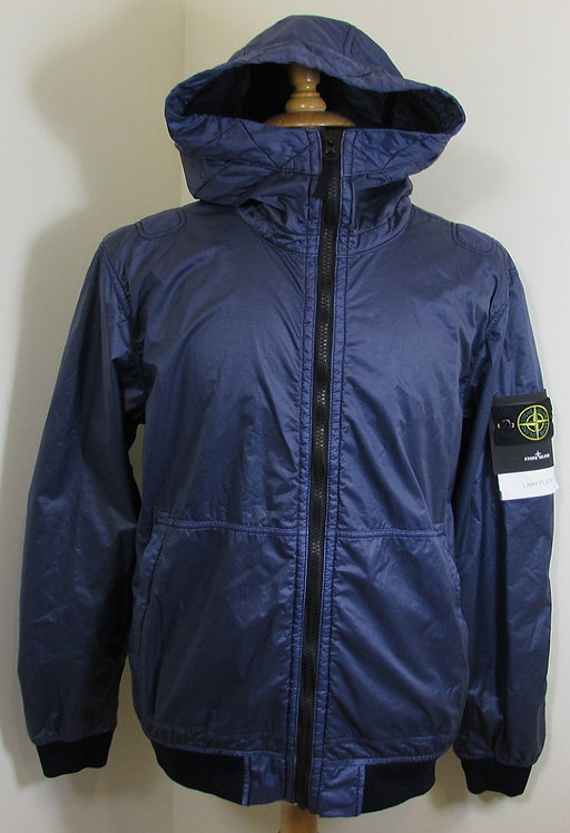 691544435 Stone Island 'Lamy Flock' Hooded Jacket in Ink (V0026)