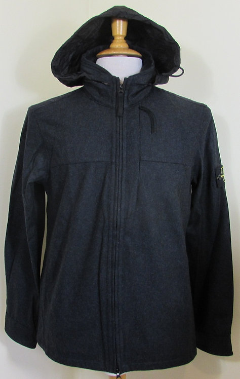 611510751 Stone Island Melange Wool Poly Bionic Finish Jacket in Navy (V0028)