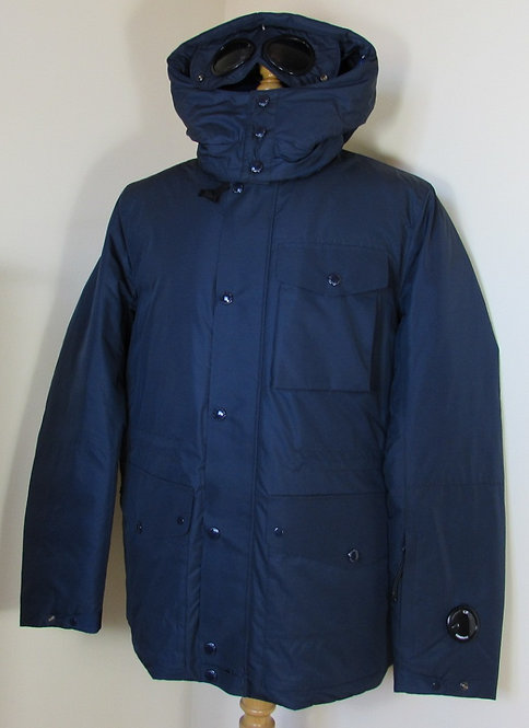 03CMOW020A CP Company 'Micro-M' Watchviewer and Goggle Hood Field Jacket - Navy
