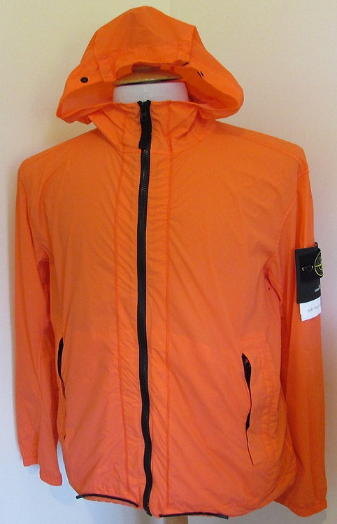 721543831 Stone Island 'Skin Touch Nylon-TC Packable' Hooded Jacket in Orange