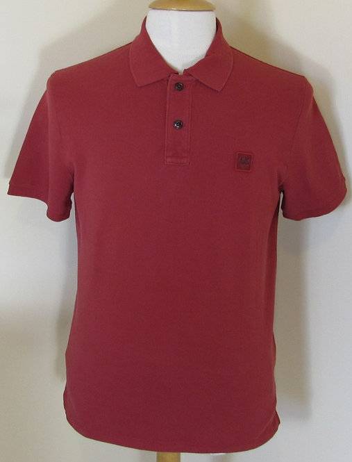 CPUT02118 C.P. Company Short Sleeve Polo Shirt in Red (580)