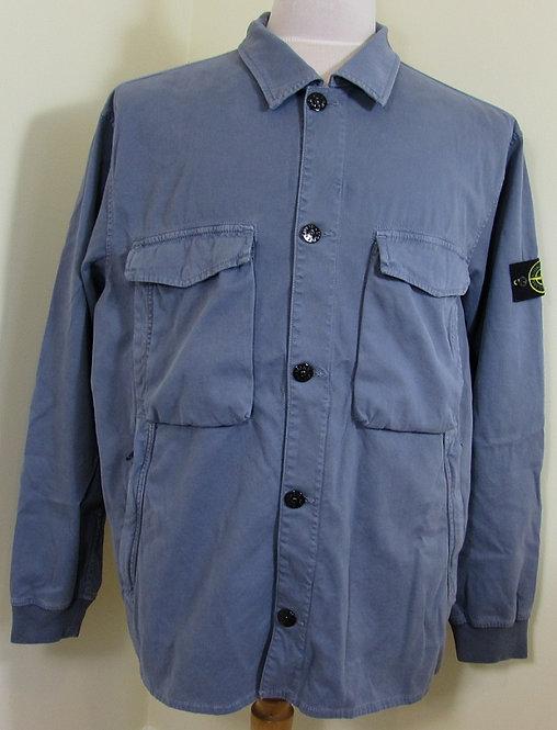 701513002 Stone Island Garment Dyed Stretch Jacket/Overshirt in Blue (V0024)