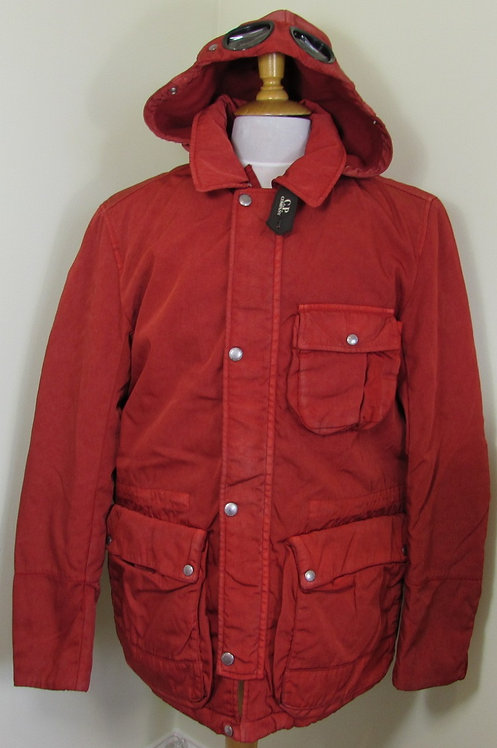 CPU0366 C.P. Company 'Frosted Dyed' Goggle Hood Jacket in Red (559)
