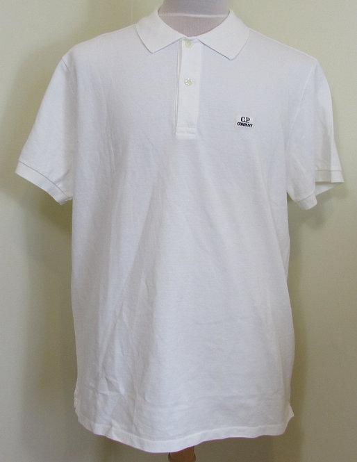 07CMPL137A C.P. Company Polo Shirt in White (103)