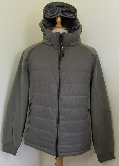 05CM0W009A C.P. Company 'Shell' Goggle Hood Jacket in Olive (654)