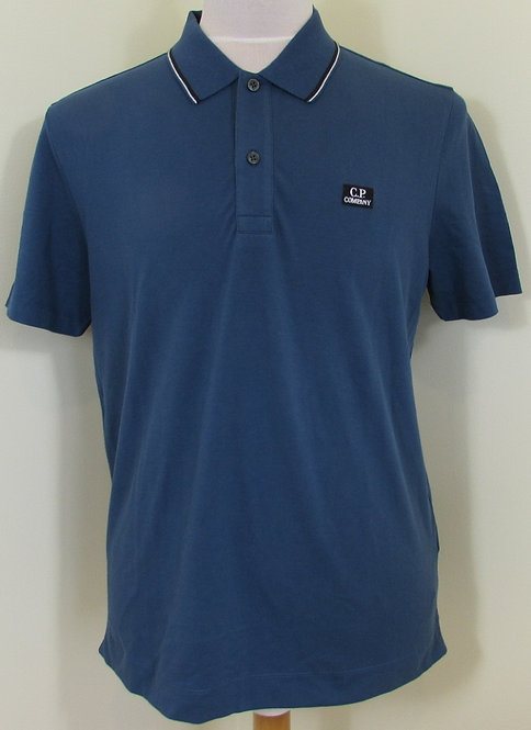 07CMPL103A C.P. Company Polo Shirt in Avio Blue (879)