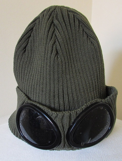 02CMAC111A C.P. Company Goggle Hat in Olive Branch (646)