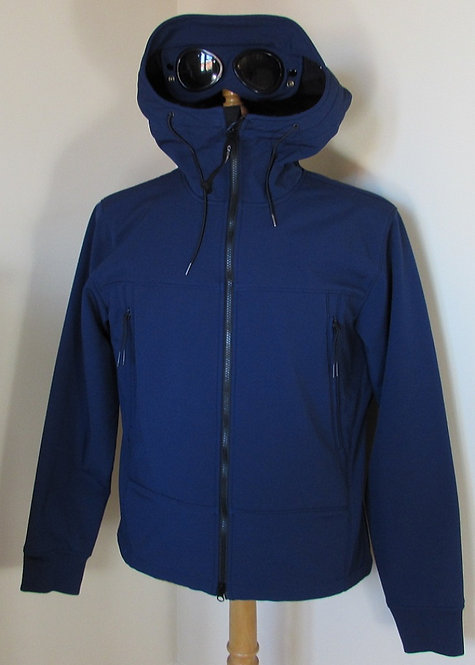03CMOW026 C.P. Company 'Shell' Goggle Hood Jacket in Blue (878)