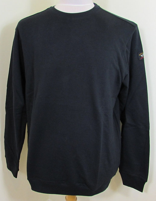 C0P1015 Paul & Shark Round Neck Sweatshirt in Black (011)