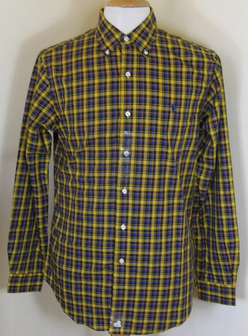 Ralph Lauren Polo Long Sleeved Shirt in Yellow and Blue