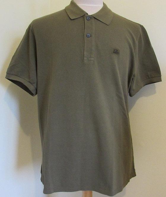 06CMPL053A C.P. Company Polo Shirt in Khaki (672)