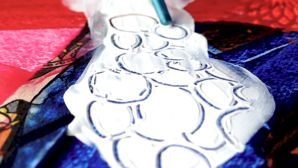 doodla med gesso