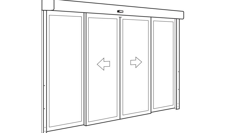 Монтаж автоматической двери * (без НДС ,  ФЛП 3-я группа)