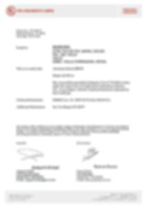 Сертификат испытания автоматической двериManusa Activa