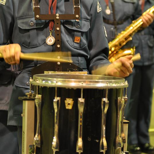 Air Cadet band drummer
