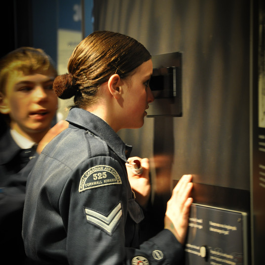 325 Air Cadet at museum