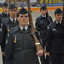 Air Cadet Drill Team with Arms