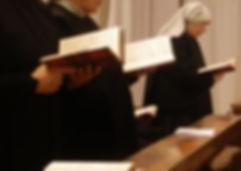 Oração no coro - mosteiro de Santa Escolastica