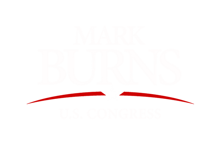 Burns for Congress (White with RED arch NO BORDER).png