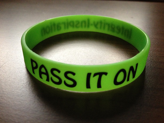 Pass It On Bracelets for RAIDER RELIEF