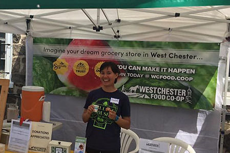 West Chester Cooperative Booth at the Growers Market