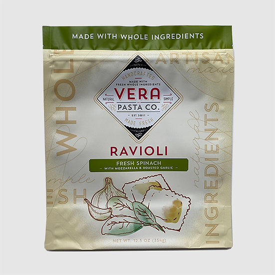 Ravioli - Spinach, Mozzarella and Roasted Garlic, Frozen