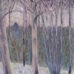 «Зимний лес». Холст, масло.1972 г.