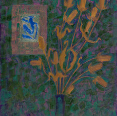 Натюрморт с колючкой. 2004  холст, масло