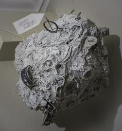 """Планета Часовщика"", картон, бумага, монтажная пена, краска, детали, 60х60х50, 2017"