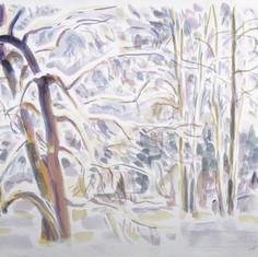 «Зимний лес». Бум. акварель.1977 г.