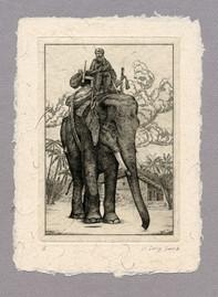 """Иллюстрация к рассказу Р. Киплинга """"Моти Гадж, мятежник"""" 100 х 140 мм, офорт, 2008"""