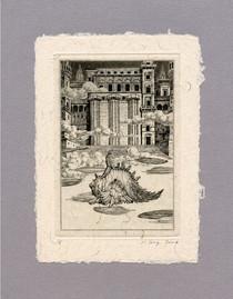 """Иллюстрация к стихтворению Р. Киплинга """"Дворец"""" 100 х 140 мм, офорт, 2008"""