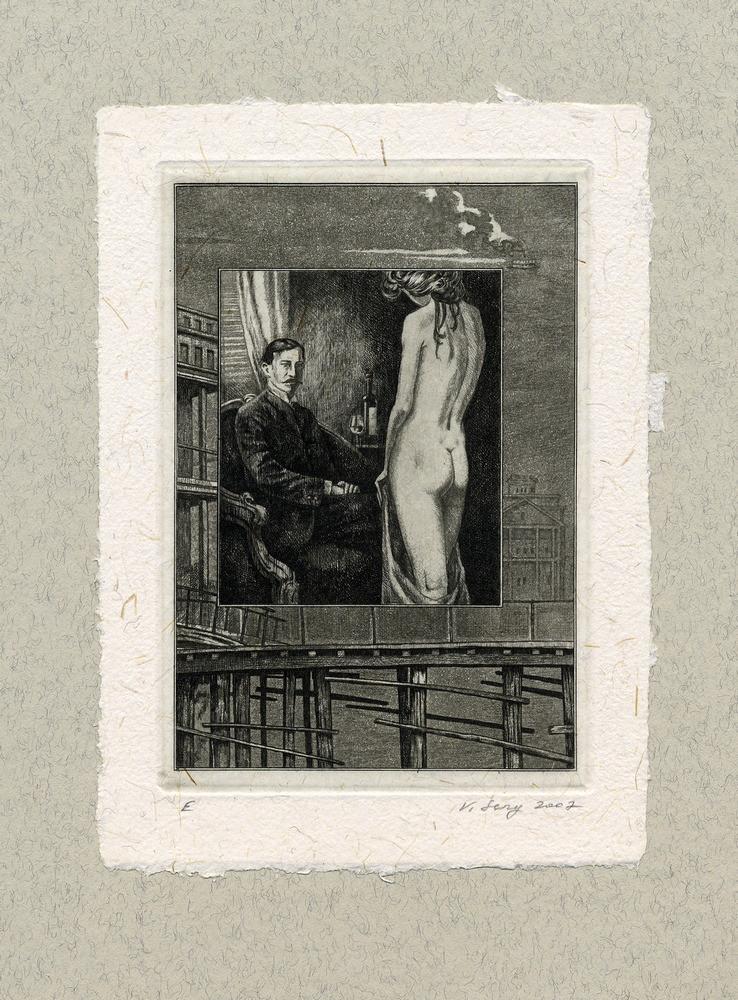 """""""Визитные карточки"""" 100 х 140 мм, офорт, 2007"""