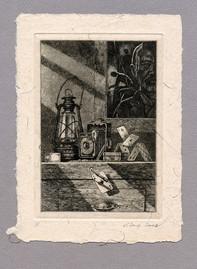 """Иллюстрация к рассказу Р. Киплинга """"Конец пути"""" 100 х 140 мм, офорт, 2008"""