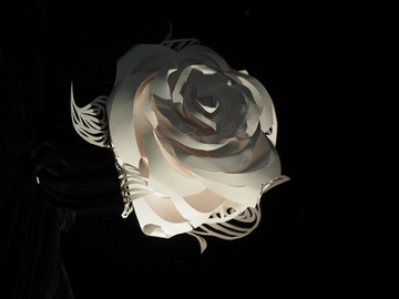 Шляпа розы, Бумага, 30х40, 2017