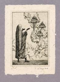 """Иллюстрация к рассказу Р. Киплинга """"Лиспет"""" 100 х 140 мм, офорт, 2008"""