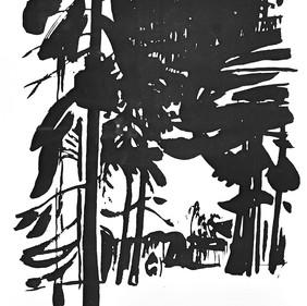 «Зима» Бумага, тушь. 1968 г.