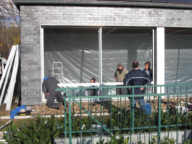 Einbau der neuen Fenster