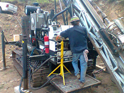 Drilling CK-18-08 at Copper King