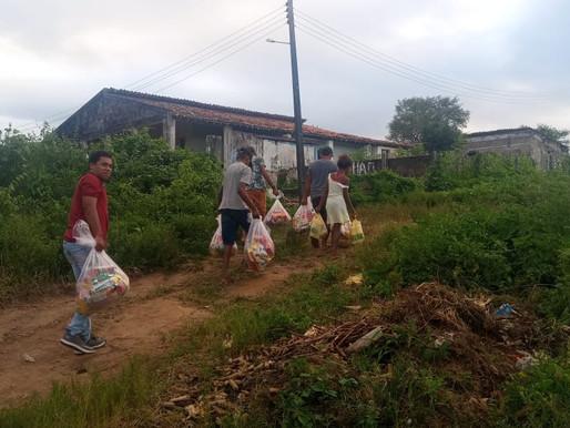 Coordenação Micro Regional da APOINME AL/SE entregaram kit de higiene e cestas básicas