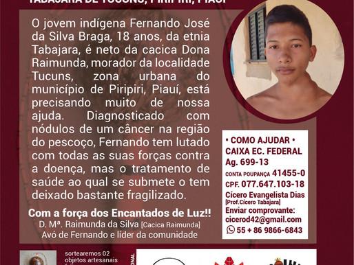 Família de Jovem Indígena Tabajara de Tucuns, faz campanha para custear recursos para tratamento