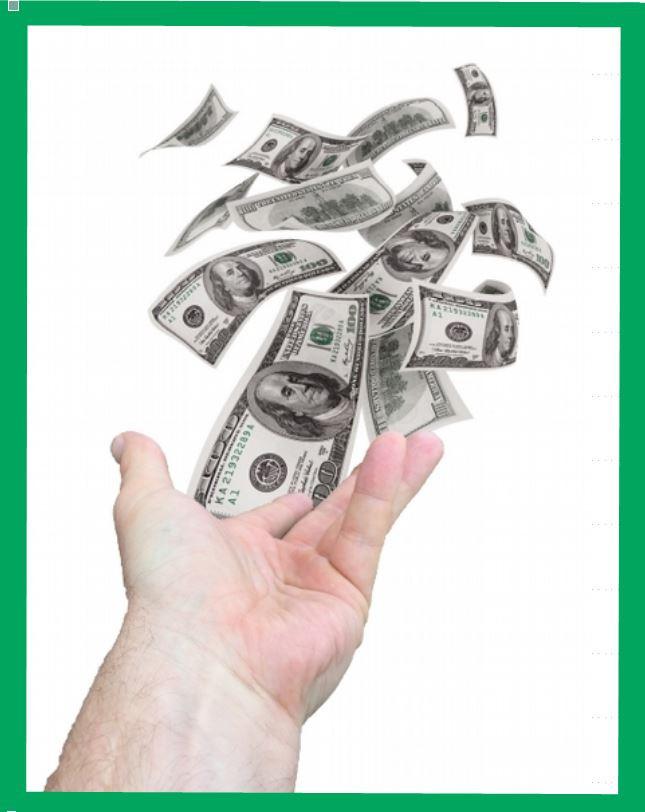 Money bills flying away