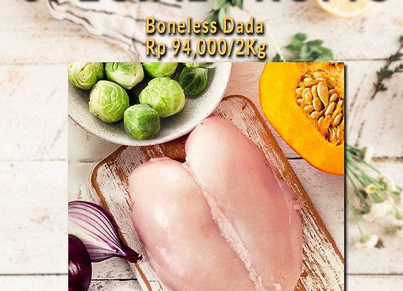 Promo  Ayam Boneless Dada (2 Kg)
