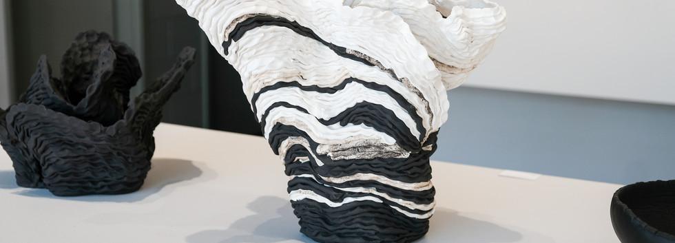 Sam Gold, Sedimentary II, 2019 Porcelian and stoneware