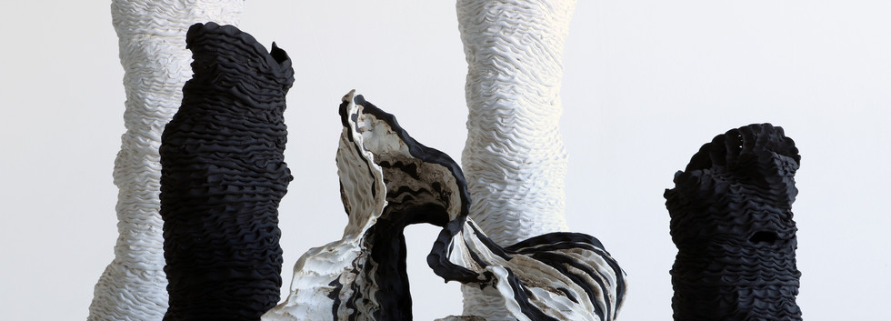 Sam Gold, River bed, 2019,porcelain and stoneware