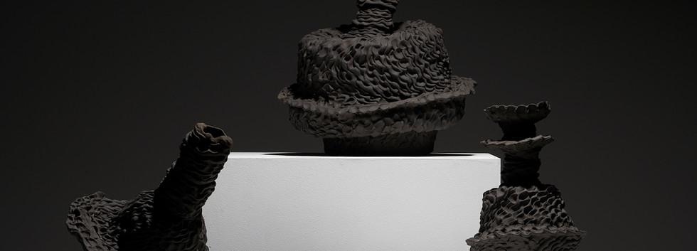 Sam Gold, Votive scarva vessels, 2020, stoneware