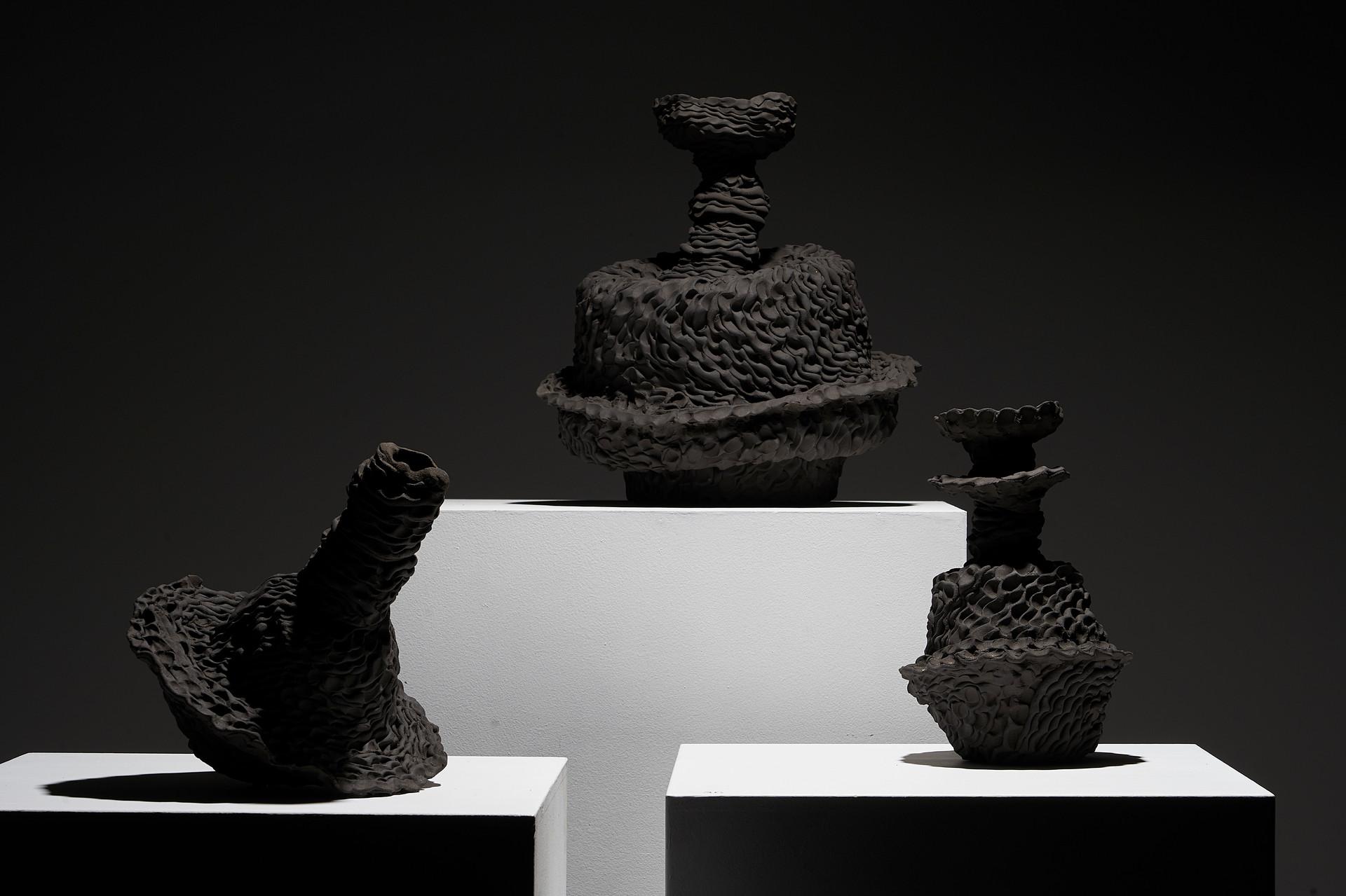 Sam Gold, Votive Scarva Vessels, stoneware, 2020