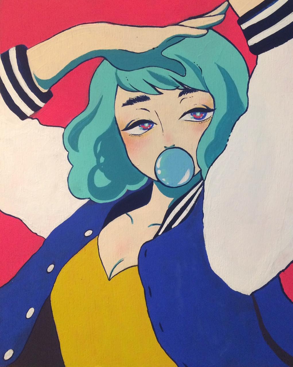 jp gouache bubble gal