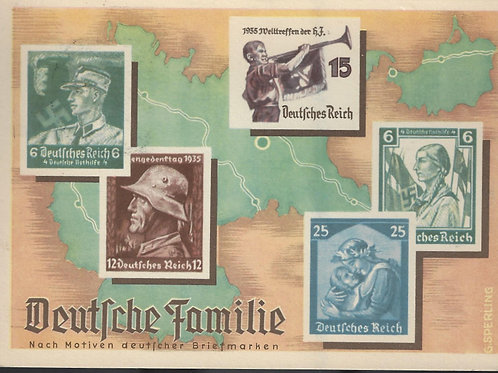 "Germany, 1936 propaganda card - ""Deutsche Familie,"" franked by Scott # B280"