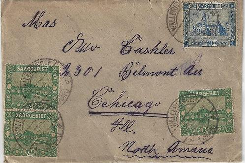 Saar cover, 1925 Wallerfangen to Chicago
